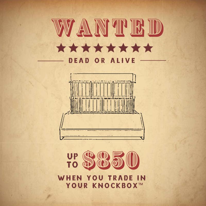 Knockbox Trade-In Rebate