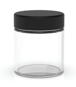 4 oz Glass Jar Clear [1-Case of 100 Jars]