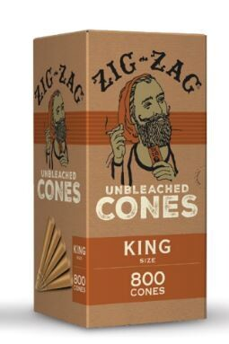 Zig Zag 109mm King Cones in Ultra (White and Brown) As Low as $75 A Box