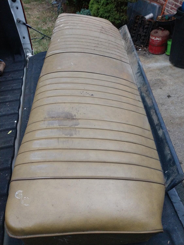 69 GTO original rear seat no rust