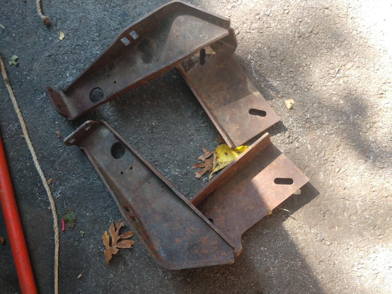 68-69 GTO front bumper brackets hideaway