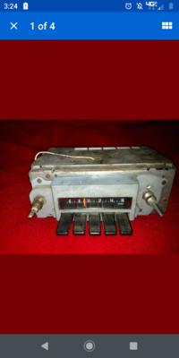 69 Pontiac Firebird Am radio
