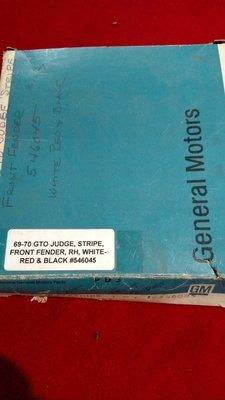 Nos Pontiac GTO Judge strip 546045