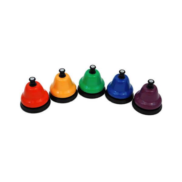 Набір дзвіночків хроматичний з кнопкою (5 шт.)