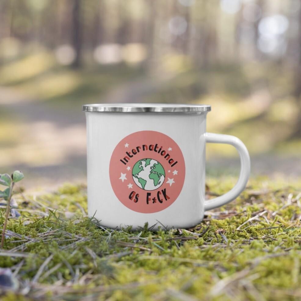 """Feminist as F*ck"" Enamel Coffee Mug"