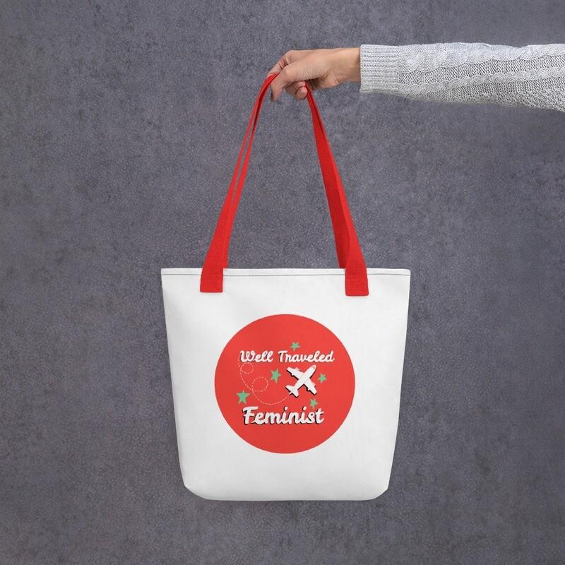 A Well-Traveled Feminist Tote Bag
