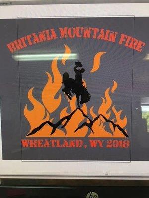 Britania Mountain Fire Wheatland WY 2018