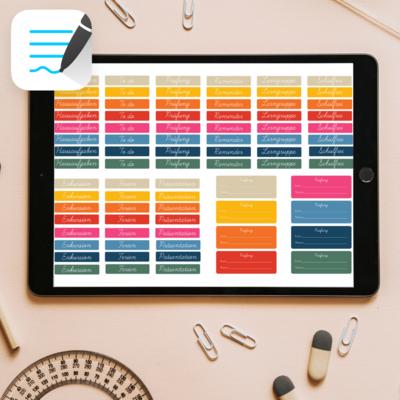 88 digitale Sticker für den digitalen Schülerkalender