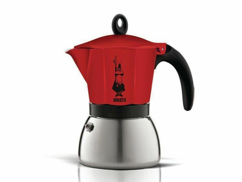 Espressokocher Bialetti Moka Induktion rot