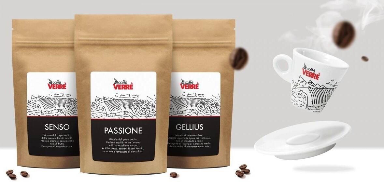 """Probierset á 50g Espresso (gemahlen) Verrè Mischung """"Gellius, Senso & Passione"""""""