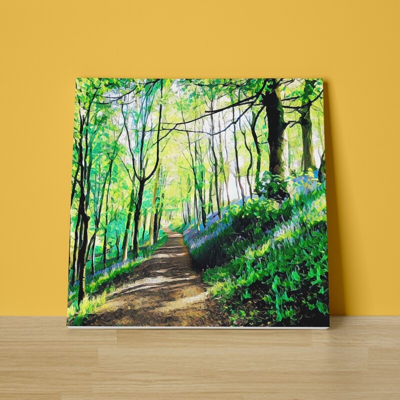 Bluebell Walk Canvas Print