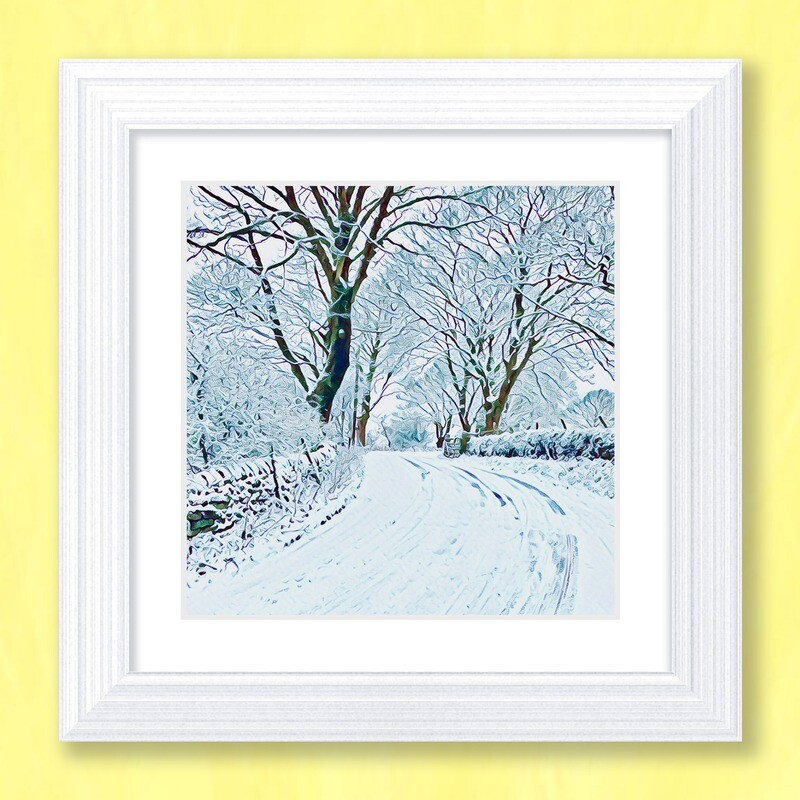 Winter Lane Art Print