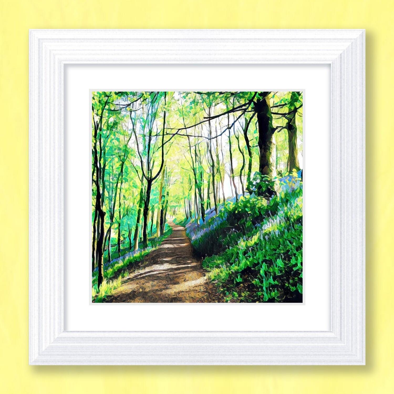 Bluebell Walk Art Print