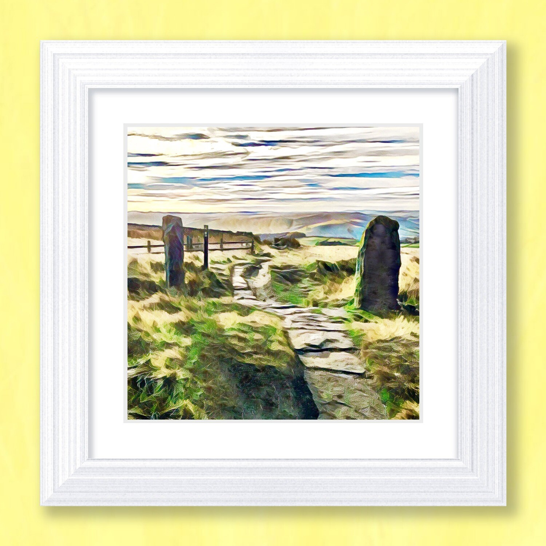 Stanage View Art Print