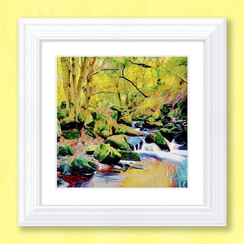 Padley Gorge Art Print