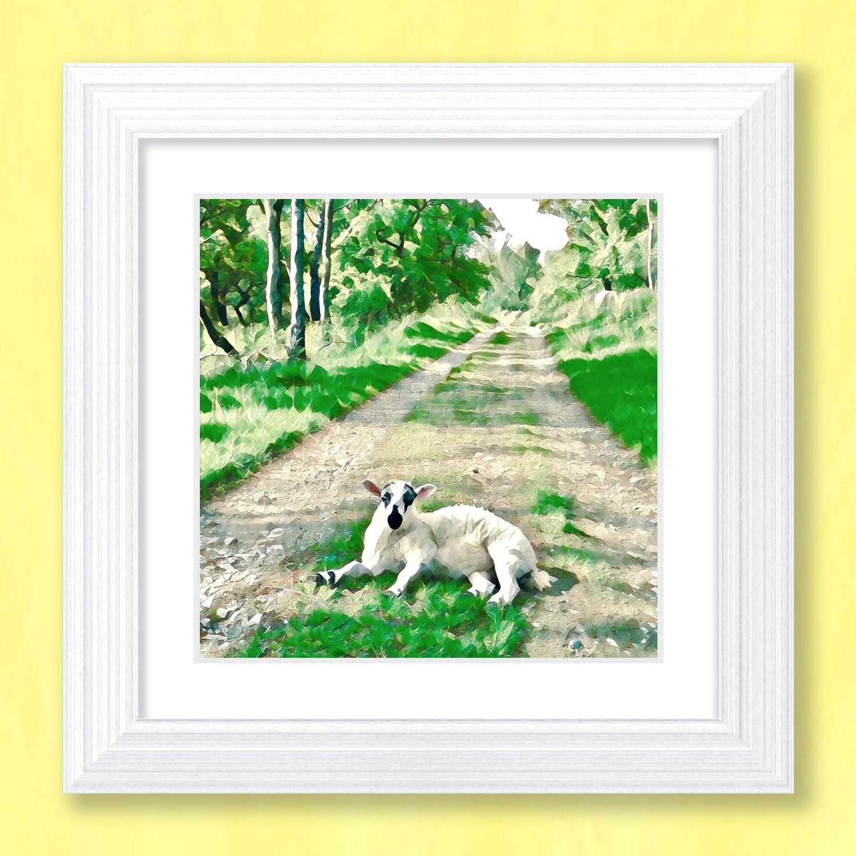 Lamb Lane Art Print