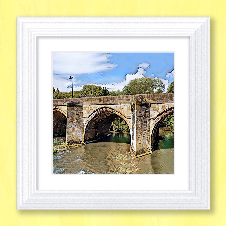 Matlock Bridge Art Print