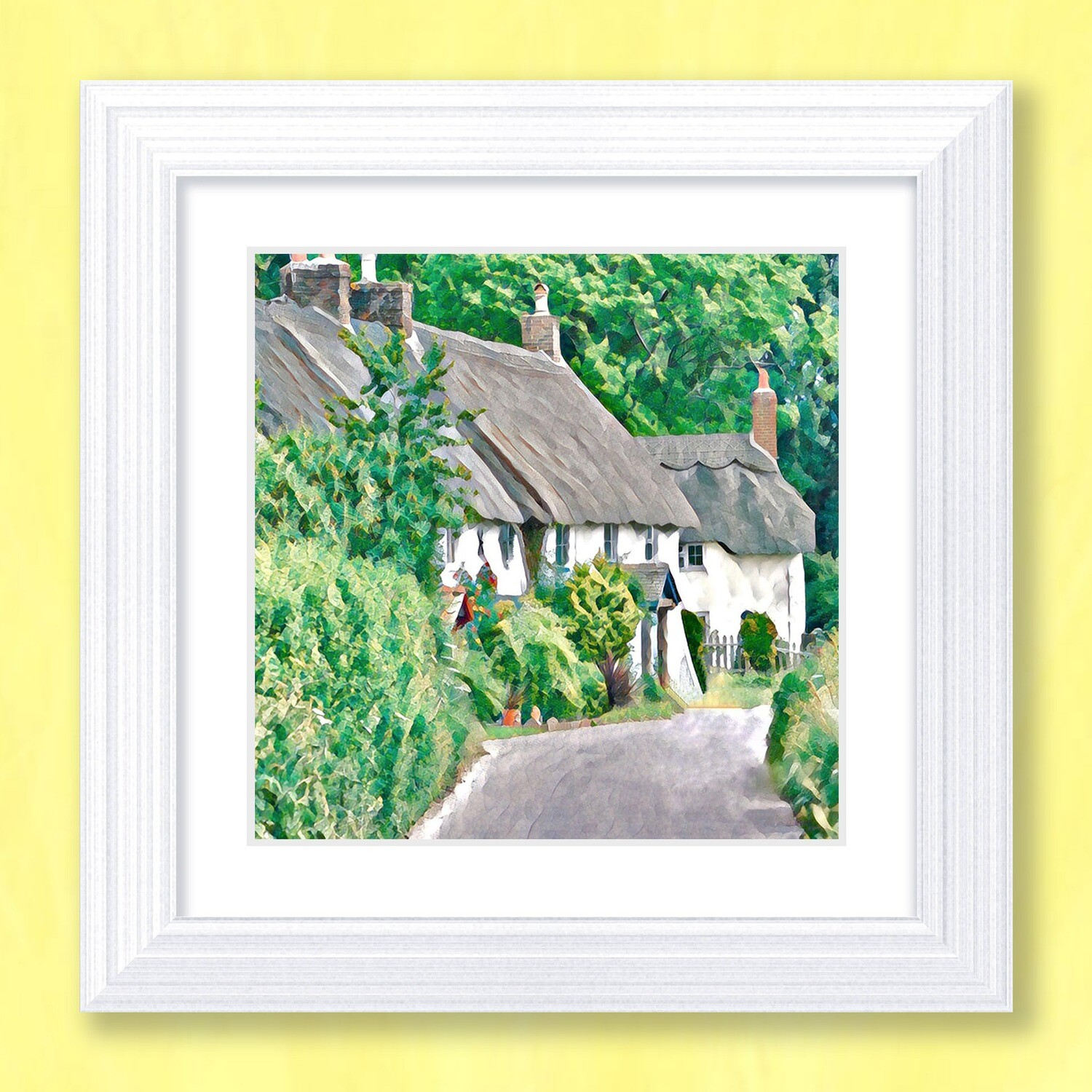 Countryside Cottages Art Print