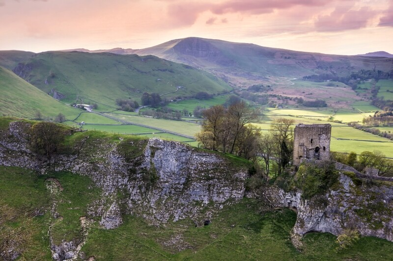 Peveril Castle from Cave Dale