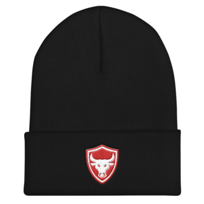 Black n Red Logo Beanie