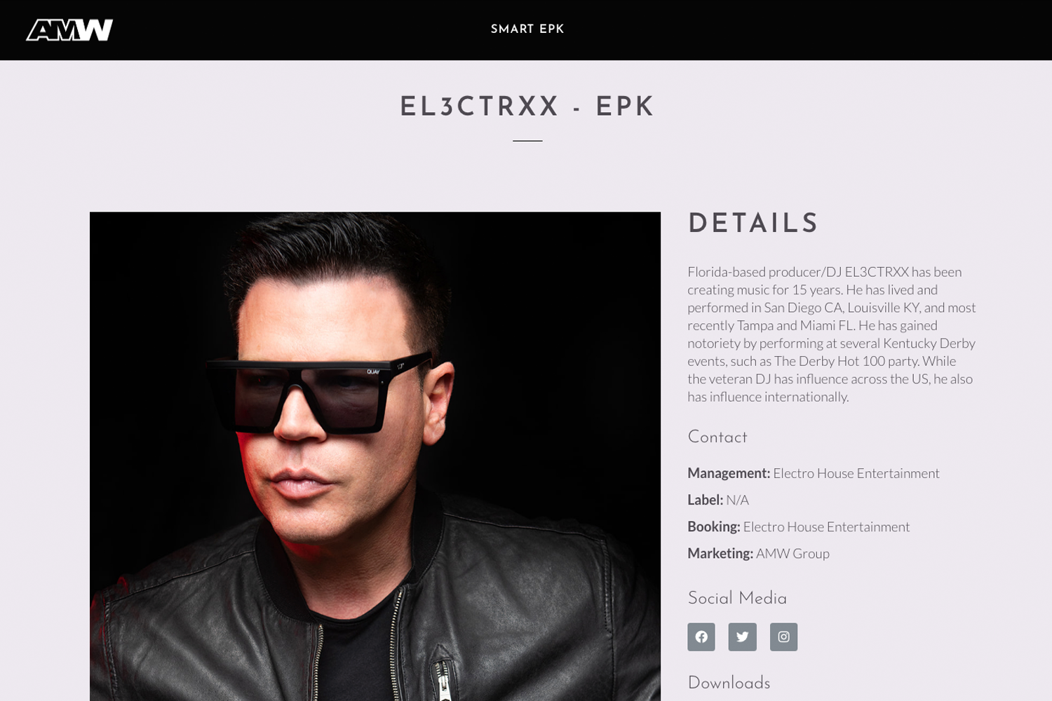 Electronic Press Kit - EPK