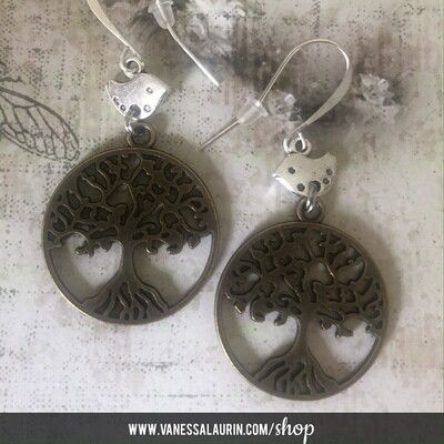 Woodland Whimsy Collection: Tree and bird earrings