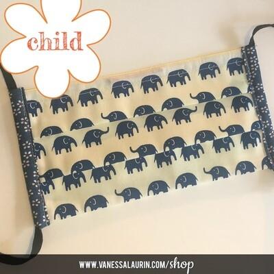 CHILD Pleated mask: Baby elephant walk!