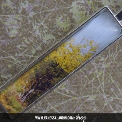 Fall Foliage Collection: Pendant 2 (Bright silver)