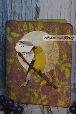 Sunrise Serenade Series: American Goldfinch Notecard