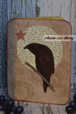 Crooning Corvids Series: American Crow Notecard