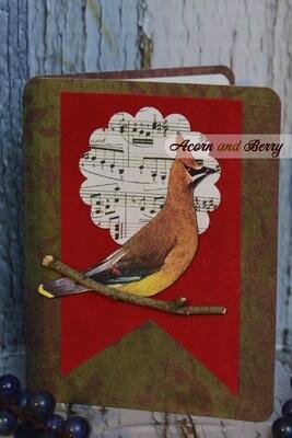 On Velvety Wings Series: Cedar Waxwing Notecard