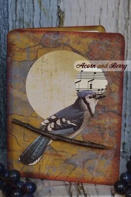 Sunrise Serenade Series: Blue Jay Notecard