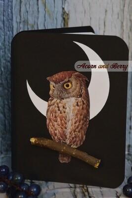 Lunar Lovelies Series: Eastern Screech Owl Notecard