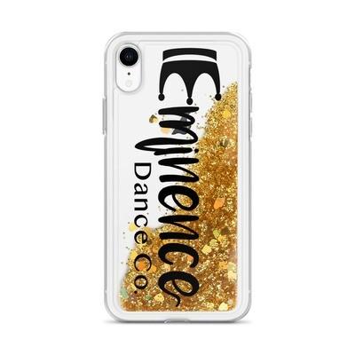 iPhone Liquid Glitter Phone Case Black