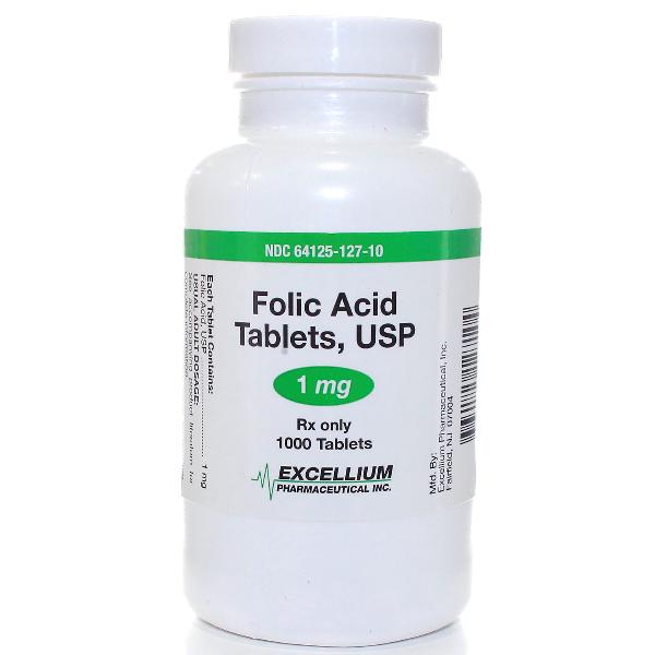 Folic Acid, 1 mg Dispensary 00282