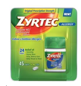 Zyrtec Generic (Cetirizine) Dispensary, 30 ct. 00019