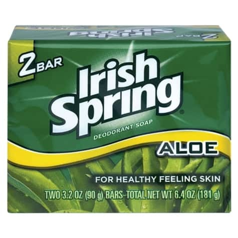 Irish Spring Bar Soap with Aloe, 2-ct. 00148