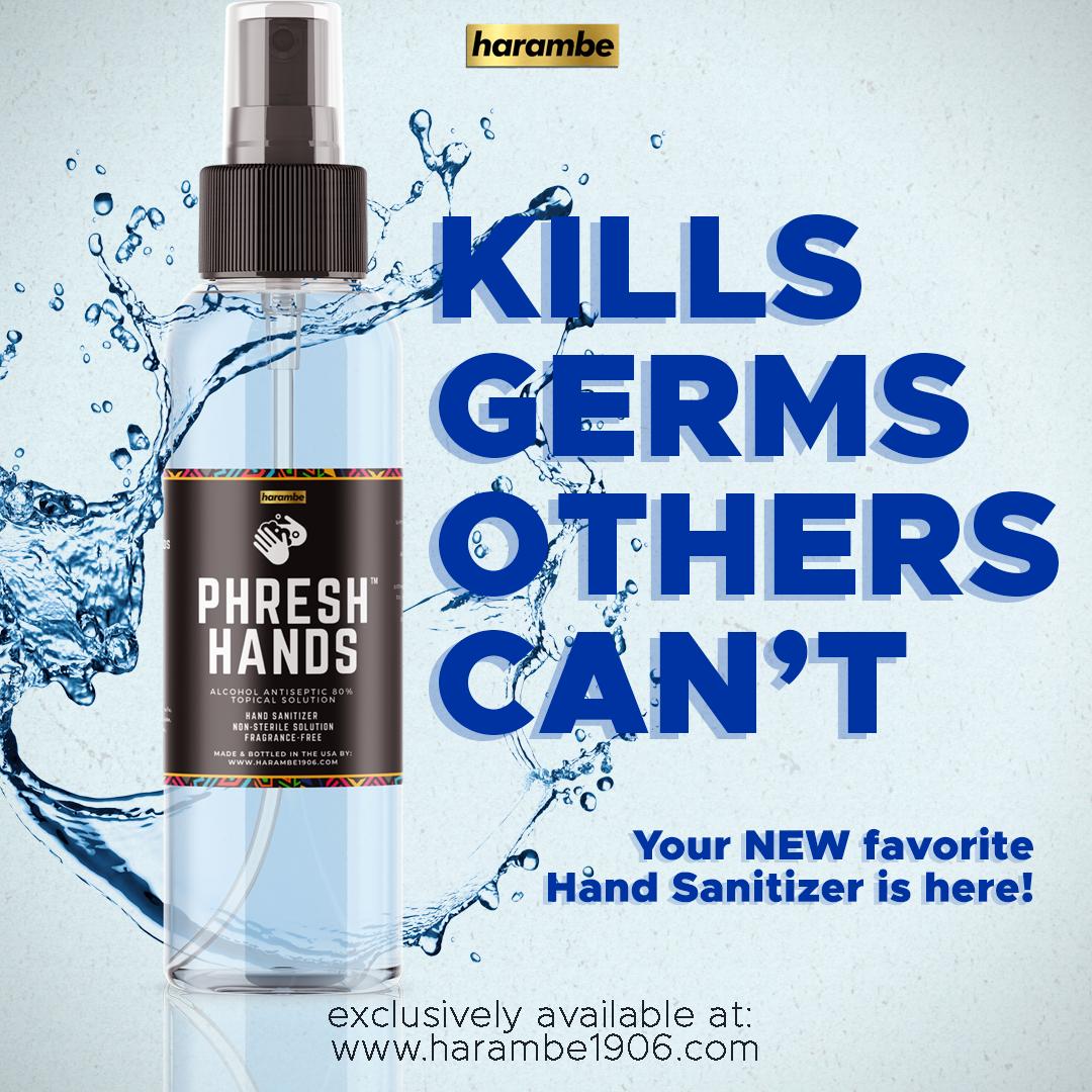 PHRESH HANDS  (Spray Hand Sanitizer- 2 oz. - 2 Pack)