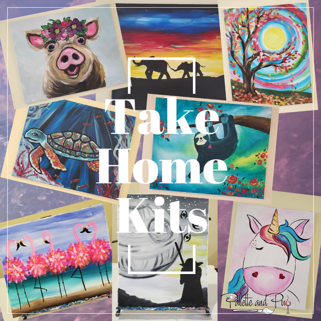 Take Home FULL SIZE Canvas Painting Kit (25 options)