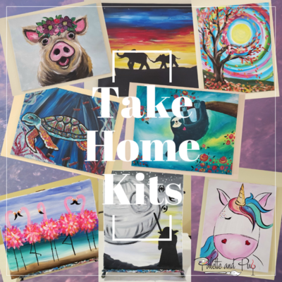 Take Home FULL SIZE Canvas Painting Kit (33 options)