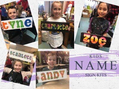 Hot Mess Kids Name Sign Kit