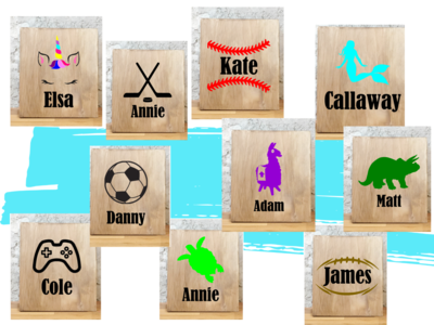 Kids Stencils with Names (10 options)