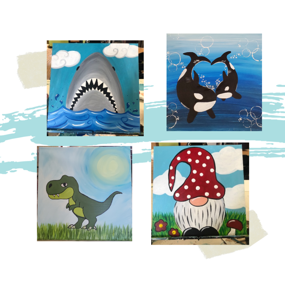 Take Home Mini Size Canvas Painting Kit
