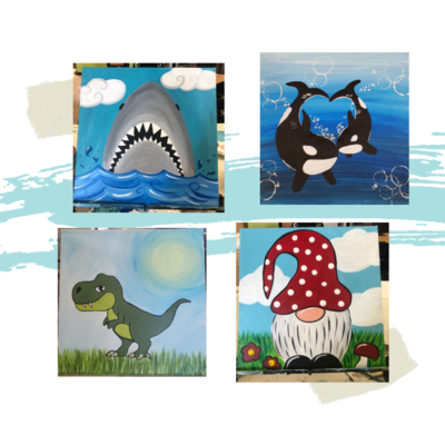 Take Home Mini Size Canvas Painting Kit