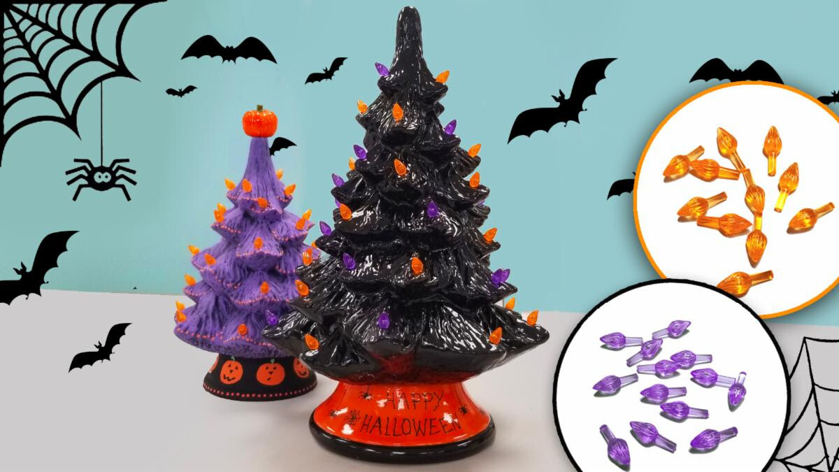 In Studio or Take Home - Halloween trees