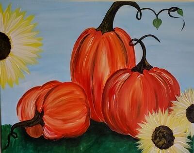 In Studio or Take Home kit - Pile of pumpkins