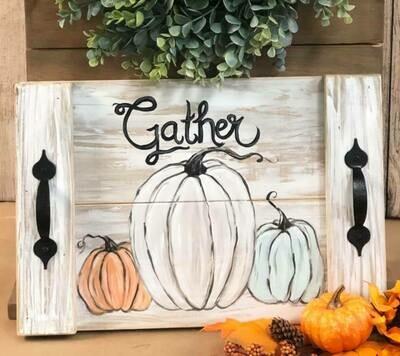 In Studio Pumpkin Tray