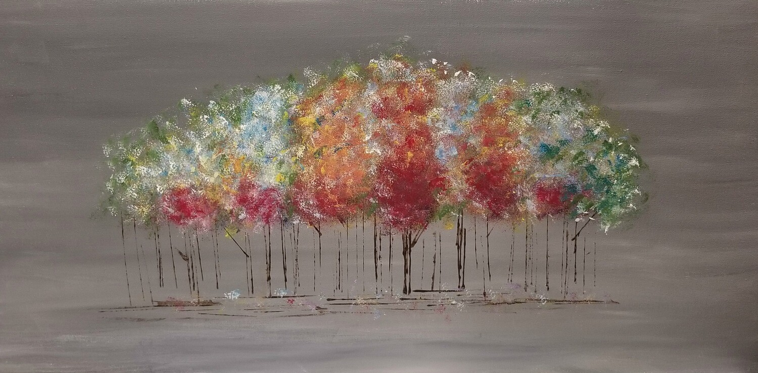 In Studio or Take Home kit - Abstract Trees