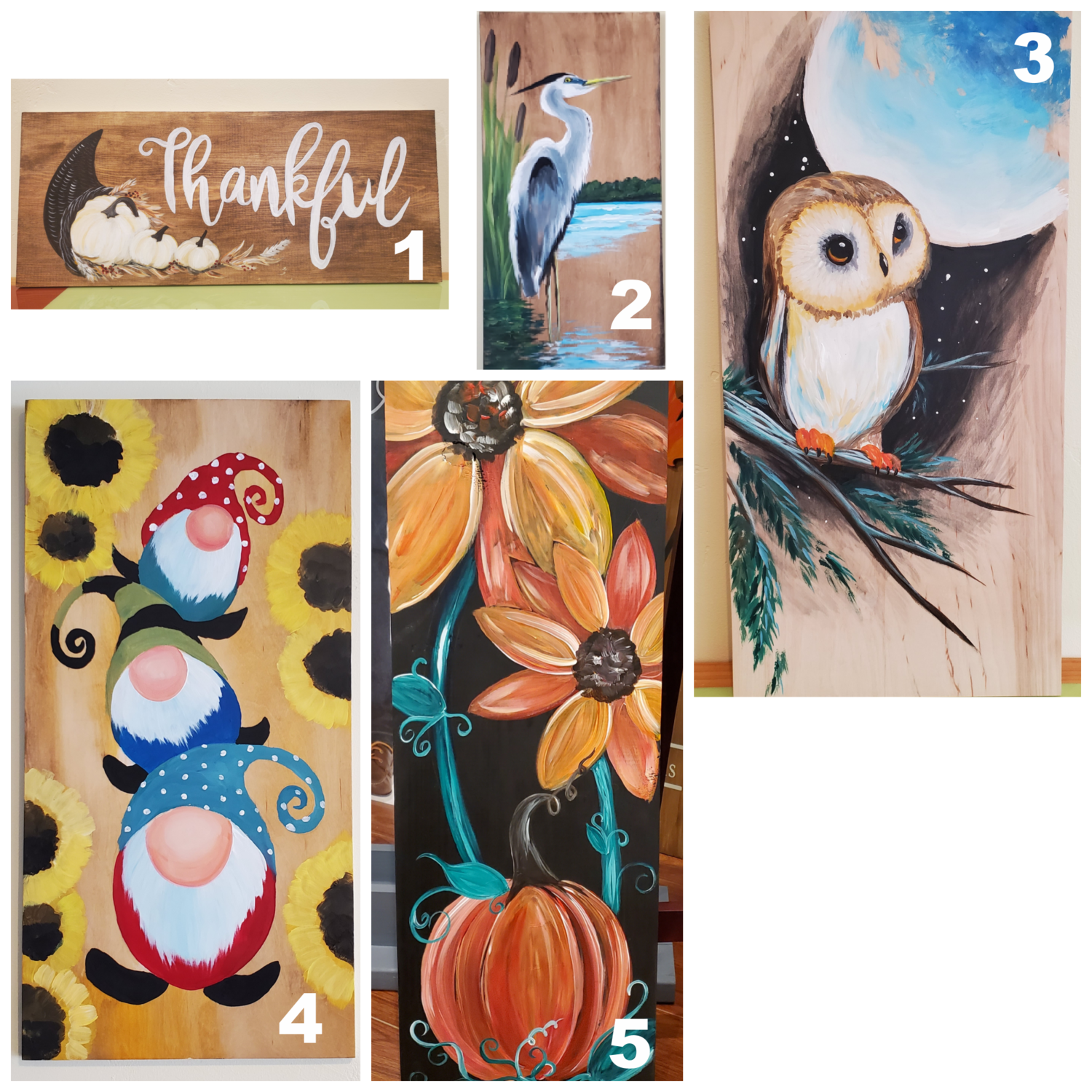 Painting on Wood - Take home kit (5 options)