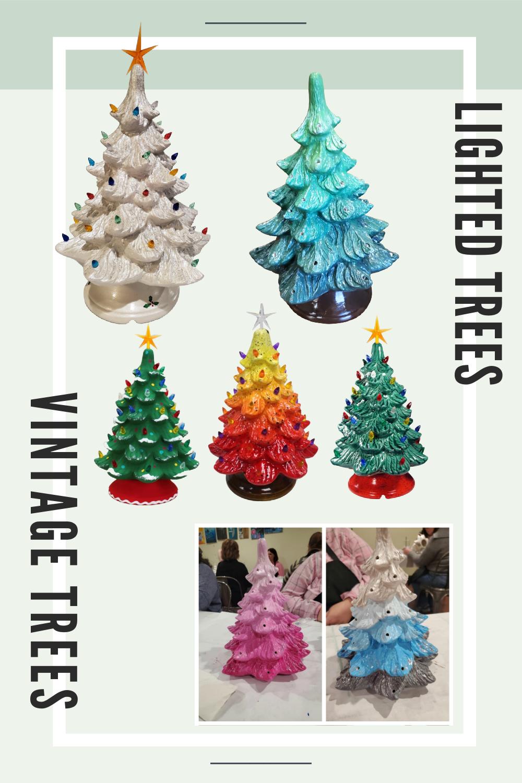 In Studio or Take Home kit - Ceramic Christmas Tree
